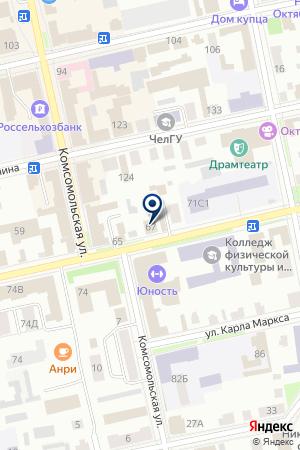 ШАДРИНСКАЯ ГОРОДСКАЯ БОЛЬНИЦА на карте Шадринска
