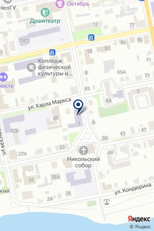 ШАДРИНСКАЯ ШКОЛА СРЕДНЕГО ОБЩЕГО ОБРАЗОВАНИЯ № 7 на карте Шадринска