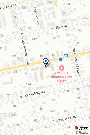 УВД КУРГАНСКОЙ ОБЛАСТИ на карте Шадринска