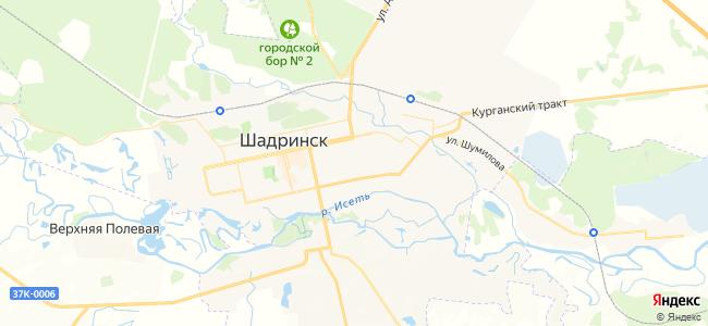 Шадринск - объекты на карте