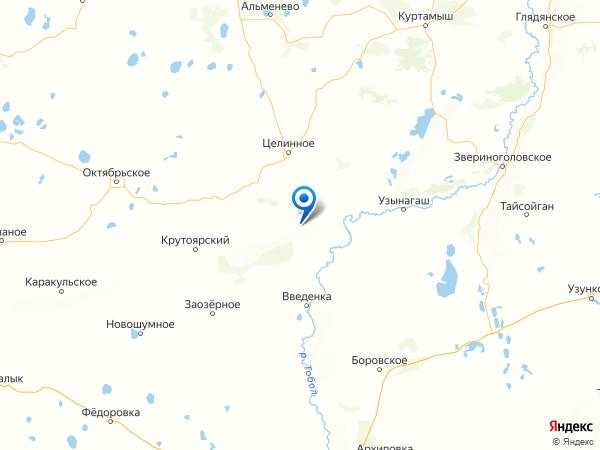 деревня Красный Октябрь (Краснопеевка) на карте