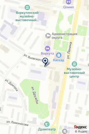 ТФ СЕВЕРТЕХСТРОЙ на карте Воркуты