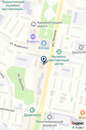 ЛОМБАРД ЗОЛУШКА на карте Воркуты