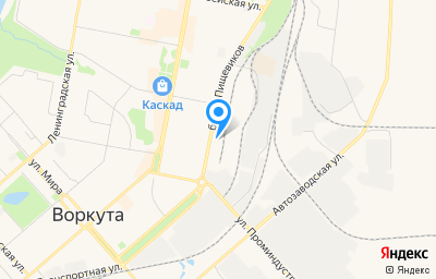 Местоположение на карте пункта техосмотра по адресу Респ Коми, г Воркута, б-р Пищевиков, д 24