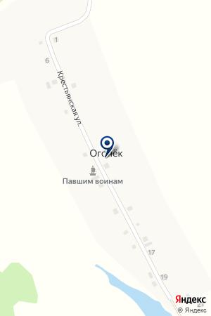 АЗС ОГОНЕК на карте Шадринска