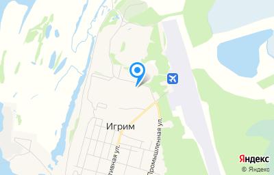 Местоположение на карте пункта техосмотра по адресу Ханты-Мансийский Автономный округ - Югра АО, Березовский р-н, пгт Игрим, ул Северная, д 5А