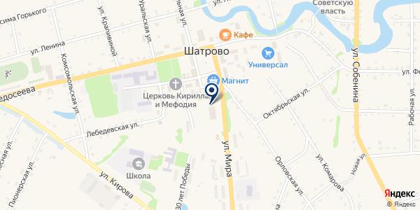 САРАНПАУЛЬСКИЙ СОВХОЗ на карте Шатрово