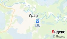 Отели города Урай на карте