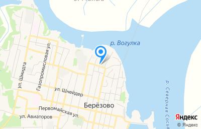Местоположение на карте пункта техосмотра по адресу Ханты-Мансийский Автономный округ - Югра АО, пгт Березово, ул Северная, д 8
