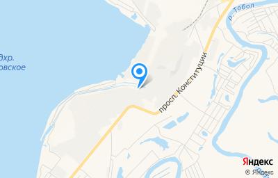 Местоположение на карте пункта техосмотра по адресу г Курган, пр-кт Конституции, д 25А