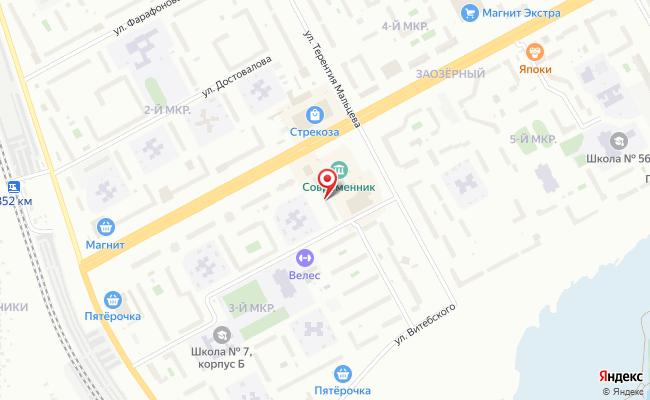 Карта расположения пункта доставки Пункт выдачи в городе Курган