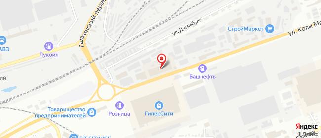 Карта расположения пункта доставки Курган Коли Мяготина в городе Курган