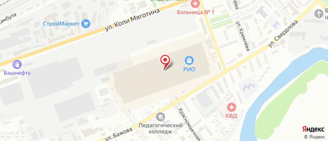 Карта расположения пункта доставки Курган Тимофея Невежина в городе Курган