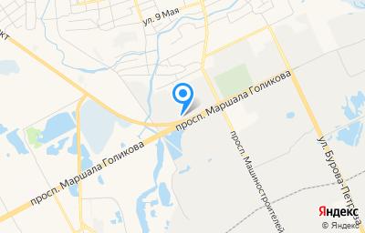 Местоположение на карте пункта техосмотра по адресу г Курган, пр-кт Маршала Голикова, д 25А