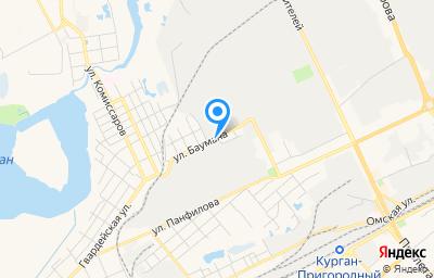 Местоположение на карте пункта техосмотра по адресу г Курган, ул Баумана, д 4Б
