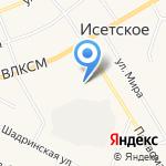 Физкультурно-спортивный центр на карте Исетского