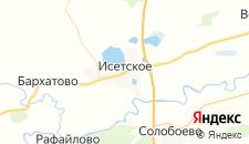 Отели города Исетское на карте