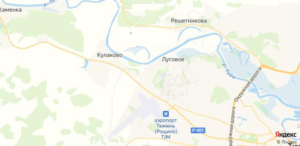 Луговое на карте