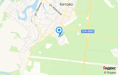 Местоположение на карте пункта техосмотра по адресу Курганская обл, с Кетово, ул Молодежная, д 2