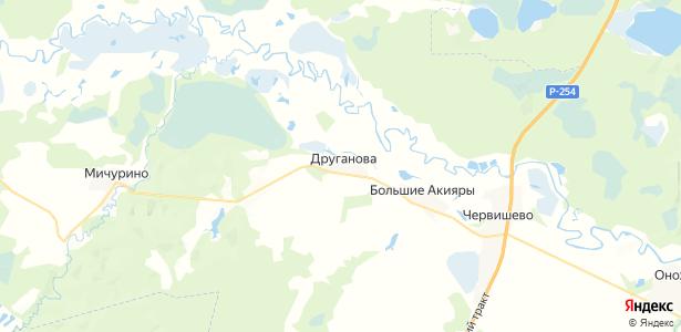 Друганова на карте