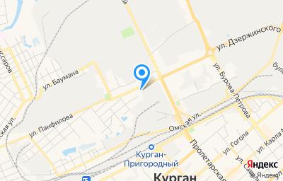 Местоположение на карте пункта техосмотра по адресу г Курган, ул Дзержинского, д 18