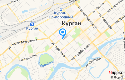 Местоположение на карте пункта техосмотра по адресу г Курган, ул Томина, д 61 стр 3