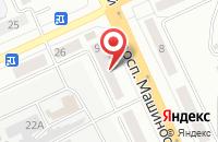 Схема проезда до компании Академия бокса Кости Цзю в Екатеринбурге