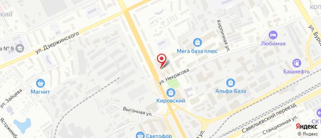Карта расположения пункта доставки Билайн в городе Курган