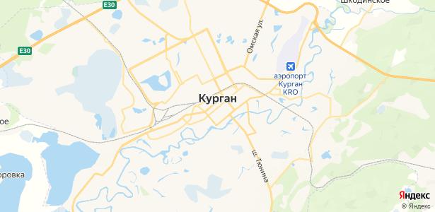Курган на карте