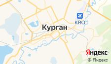 Гостиницы города Курган на карте