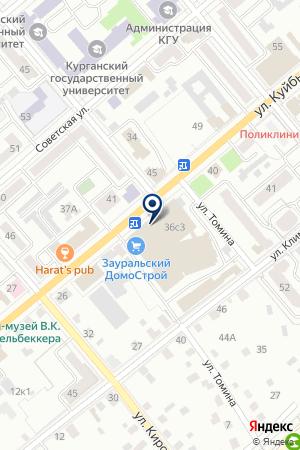 ОБЩЕСТВЕННАЯ ОРГАНИЗАЦИЯ ИНВАЛИДОВ ДИАБЕТИЧЕСКОЕ ОБЩЕСТВО на карте Кургана