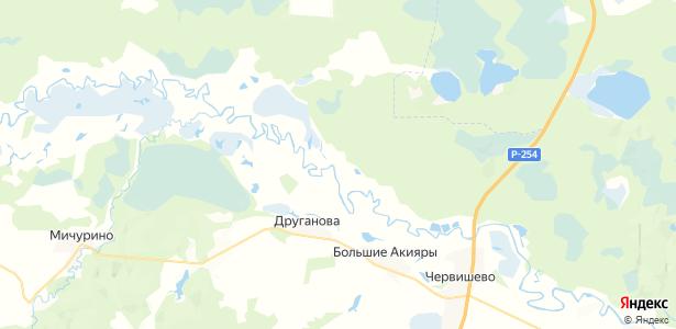 Малые Акияры на карте
