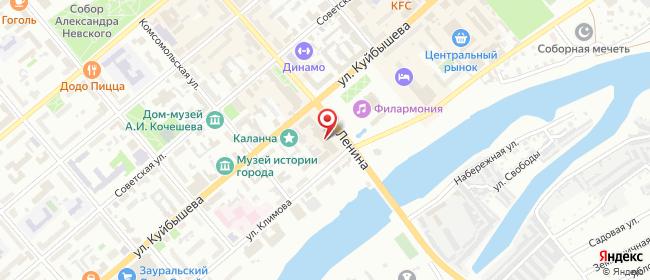 Карта расположения пункта доставки Курган Куйбышева в городе Курган