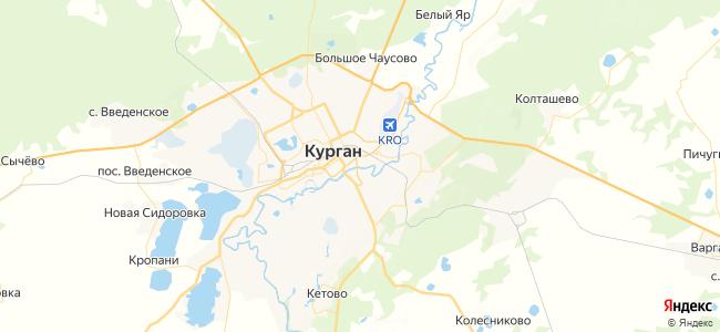 Курган - объекты на карте