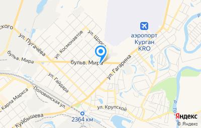 Местоположение на карте пункта техосмотра по адресу г Курган, ул Макаренко, д 16Б стр 4