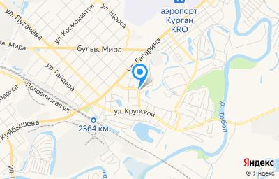 Местоположение на карте пункта техосмотра по адресу г Курган, ул С.Орджоникидзе, д 34 стр 2
