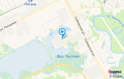 Местоположение на карте пункта техосмотра по адресу Ханты-Мансийский Автономный округ - Югра АО, г Нягань, проезд 8-й, д 1 к 4