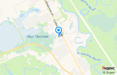 Местоположение на карте пункта техосмотра по адресу Ханты-Мансийский Автономный округ - Югра АО, г Нягань, ул Сибирская, д 26А к 3
