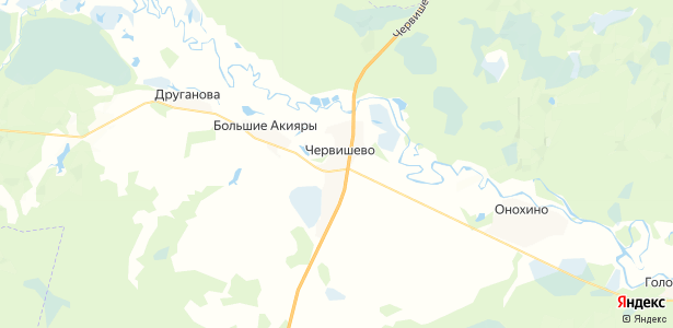 Червишево на карте