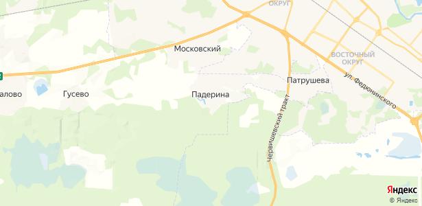 Падерина на карте