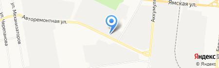 Рено Тракс Тюмень на карте Тюмени