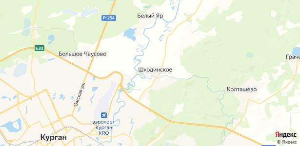 Шкодинское на карте
