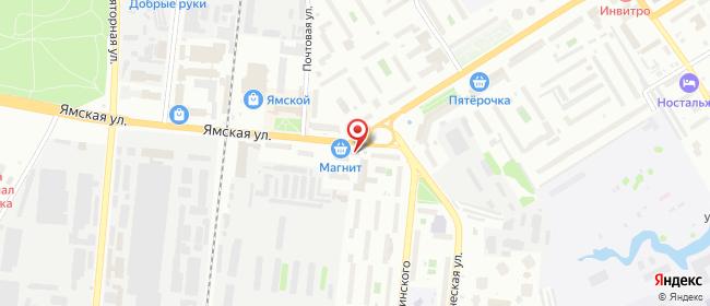 Карта расположения пункта доставки Тюмень Ямская в городе Тюмень