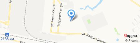 Вектор-Тюмень на карте Тюмени