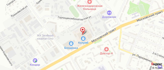 Карта расположения пункта доставки СИТИЛИНК в городе Тюмень