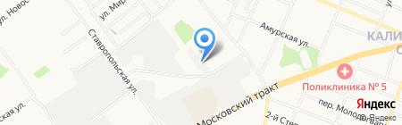 АВТОСТЕКЛО на карте Тюмени