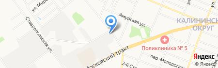Дорожник на карте Тюмени