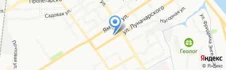 Любава на карте Тюмени