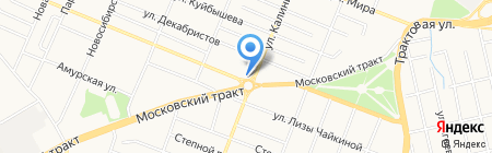 Русский фейерверк на карте Тюмени