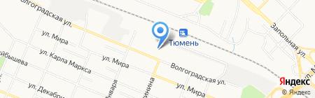 Нейва на карте Тюмени